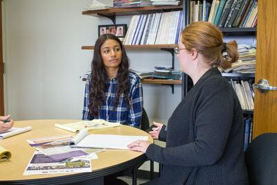 Rebecca Rodriguez and Puja Patel
